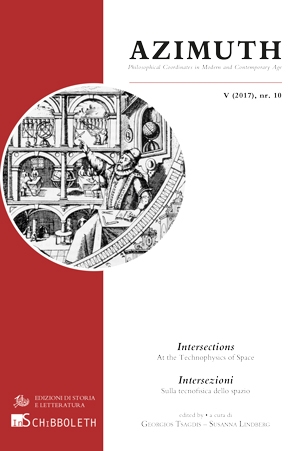 Intersections. At the Technophysics of Space / Intersezioni. Sulla tecnofisica dello spazio