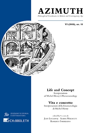 Azimuth. Philosophical Coordinates in Modern and Contemporary Age, VI (2018), nr. 11 (PDF)