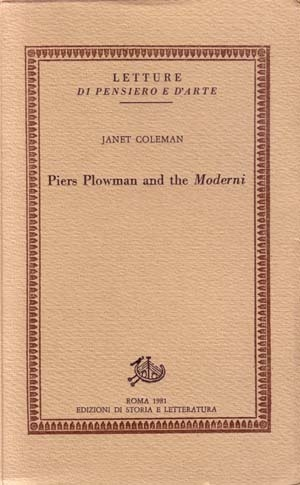 Piers Plowman and the Moderni