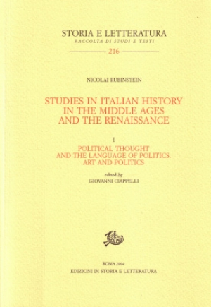 Studies in Italian History in the Middle Ages and the Renaissance. I.