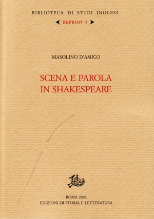 Scena e parola in Shakespeare