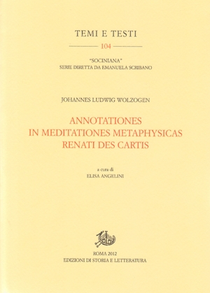 Annotationes in meditationes metaphysicas Renati Des Cartis