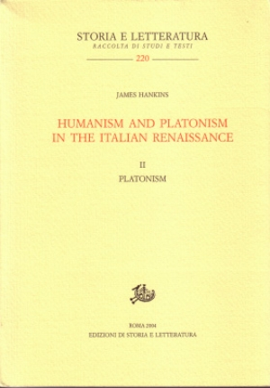 Humanism and Platonism in the Italian Renaissance. II