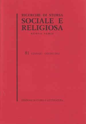copertina di Ricerche di storia sociale e religiosa, 81