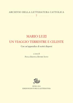 copertina di Mario Luzi