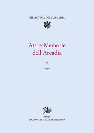 copertina di Atti e Memorie dell'Arcadia, 6 (2017)