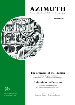 copertina di The Domain of the Human. Anthropological Frontiers in Modern and Contemporary Thought / Il dominio dell'umano. Frontiere antropologiche tra moderno e contemporaneo