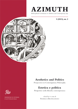 copertina di Aesthetics and Politics. Perspectives in Contemporary Philosophy / Estetica e politica. Prospettive nella filosofia contemporanea