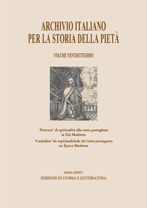 copertina di Archivio italiano per la storia della pietà, XXVII
