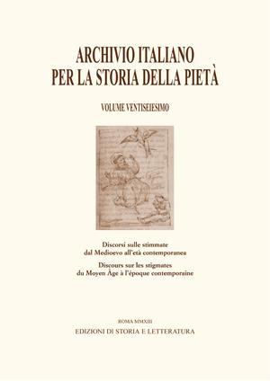 copertina di Discorsi sulle stimmate dal Medioevo all'età contemporanea / Discours sur les stigmates du Moyen Âge à l'époque contemporaine