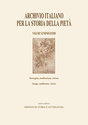 copertina di Archivio italiano per la storia della pietà, XXIX