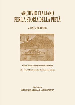 copertina di Archivio italiano per la storia della pietà, XXVIII