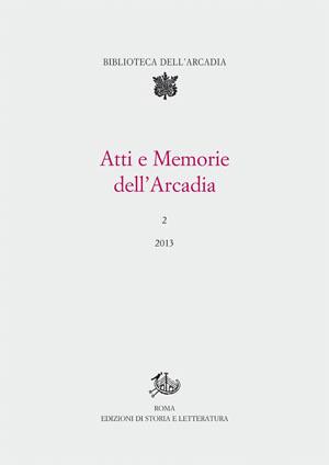 copertina di Atti e Memorie dell'Arcadia, 2 (2013)