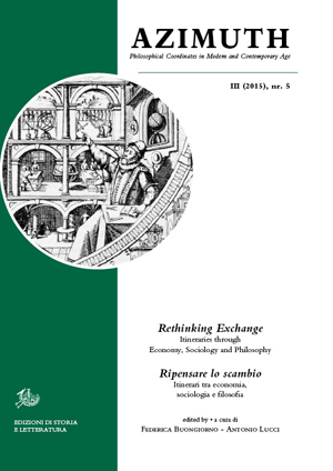 copertina di Rethinking Exchange. Itineraries through Economy, Sociology and Philosophy / Ripensare lo scambio. Itinerari tra economia, sociologia e filosofia