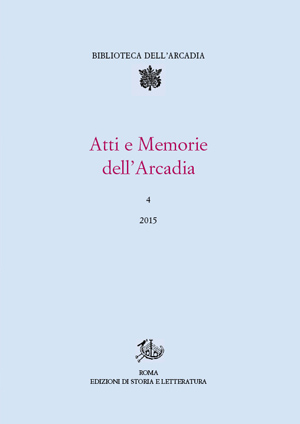 copertina di Atti e Memorie dell'Arcadia, 4 (2015)