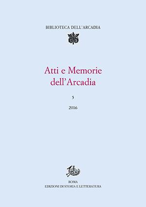 copertina di Atti e Memorie dell'Arcadia, 5 (2016)