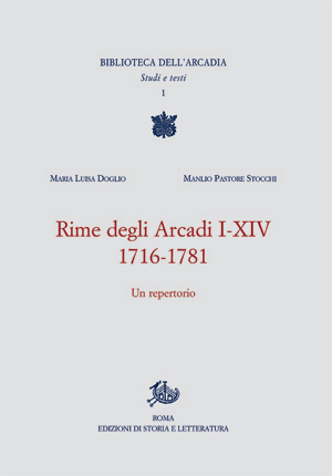 copertina di Rime degli Arcadi I-XIV. 1716-1781