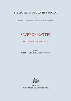 copertina di Saverio Mattei