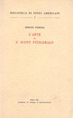 copertina di L'arte di F. Scott Fitzgerald
