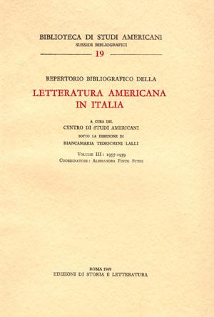 copertina di Repertorio bibliografico della letteratura americana in Italia, vol. III