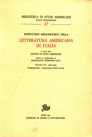 copertina di Repertorio bibliografico della letteratura americana in Italia, vol. IV