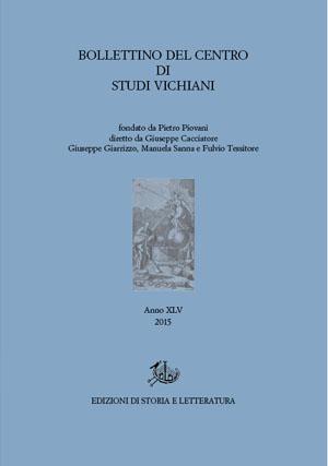 copertina di Bollettino del Centro di Studi Vichiani 45