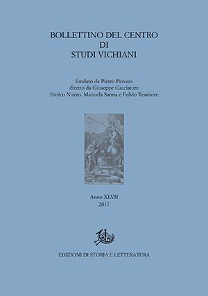 copertina di Bollettino del Centro di Studi Vichiani 47