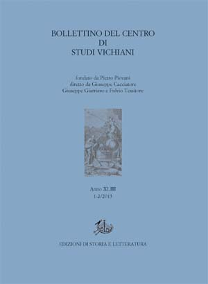 copertina di Bollettino del Centro di Studi Vichiani 43/1-2