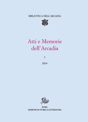 copertina di Atti e Memorie dell'Arcadia, 3 (2014)