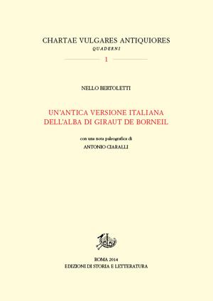 copertina di Un'antica versione italiana dell'alba di Giraut de Borneil