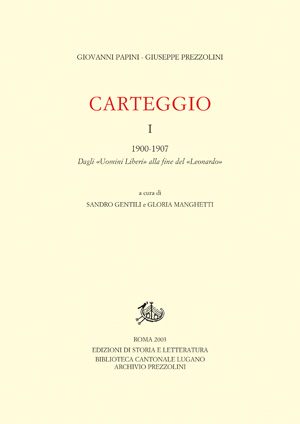 copertina di Carteggio. I.