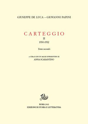 copertina di Carteggio. II.2