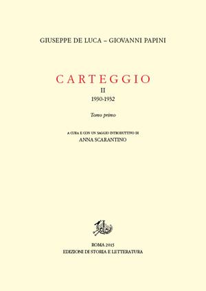 copertina di Carteggio. II.1