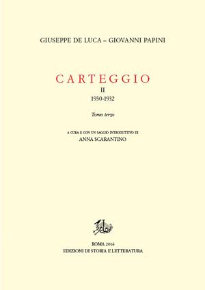 copertina di Carteggio. II.3