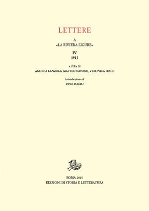 copertina di Lettere a «La Riviera Ligure». IV