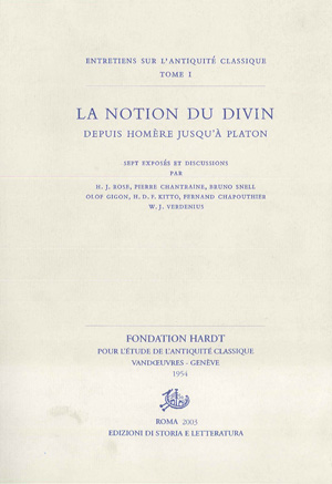 copertina di La notion du divin depuis Homerè jusqu'à Platon
