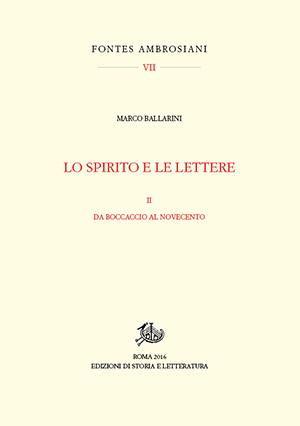copertina di Lo spirito e le lettere. II.