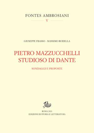 copertina di Pietro Mazzucchelli studioso di Dante