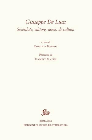 copertina di Giuseppe De Luca