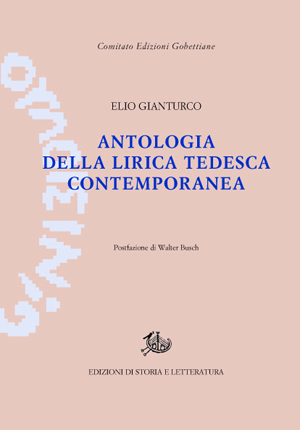 copertina di Antologia della lirica tedesca contemporanea