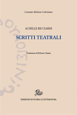 copertina di Scritti teatrali