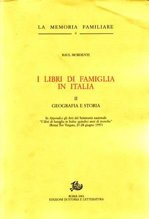copertina di I libri di famiglia in Italia. II