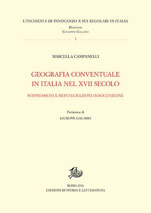 copertina di Geografia conventuale in Italia nel XVII secolo