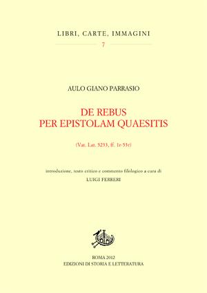 copertina di De rebus per epistolam quaesitis