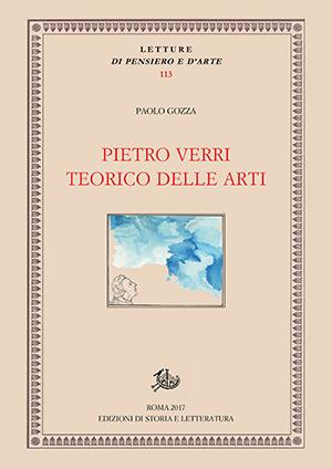 copertina di Pietro Verri teorico delle arti