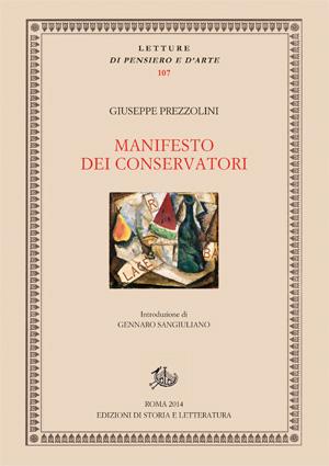 copertina di Manifesto dei conservatori