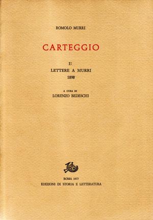 copertina di Carteggio. II