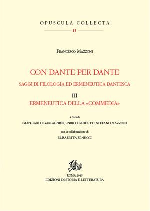 copertina di Con Dante per Dante. III