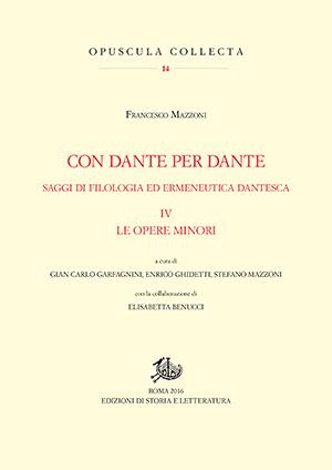 copertina di Con Dante per Dante. IV