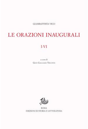 copertina di Le orazioni inaugurali